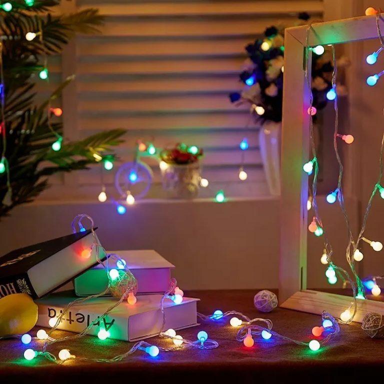 luces de navidad led multicolor globo